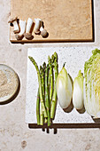 Ingredients for cold vegetables dishes