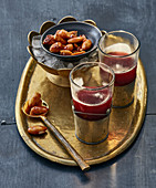 Aphrodite's love potion with spiced almonds