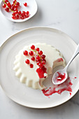 Panna cotta decorated with fresh berries