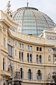 The dome of Galleria Umberto Primo from the outside, Naples, Campania, Italy