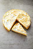 Lemon meringue tart (sugar-free)