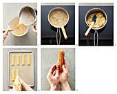 Eclairs with vanilla cream being made (sugar-free)