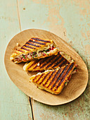 Indian masala cheese sandwich