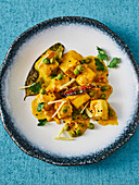 Paneer with ginger and coconut