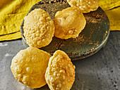 Poori (fried unleavened bread, India)