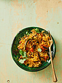 Indian tomato rice with peanuts
