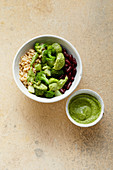 Barley and broccoli bowl with a pumpkin and lime dressing