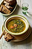 Portuguese 'caldo verde' kale soup