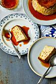Orange-flavoured Portuguese caramel pudding