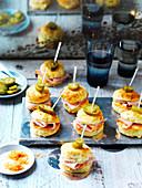 Mini Capsicum, Ham and Jalapeno Scones