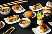 Verschiedene Fusion Food Snacks