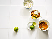 Courgette curry with peanuts
