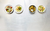Four types of quick pasta