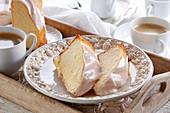 Babka - bundt cake with sugar icing