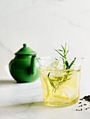Ide tea with lemon and tarragon