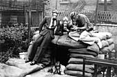 Gas masks and air raid shelter erection