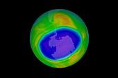 Antarctic ozone hole maximum, 2020