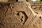 Frieze in Cupisnique temple, Peru