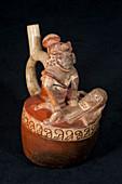 Moche ceramic depicting a shaman