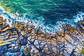 Rocky coast, aerial view