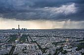 Hotel des Invalides, the Eiffel Tower and La Defense, Paris