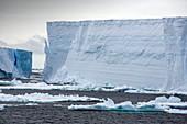 Tabular icebergs from Larson C ice shelf, Antarctica