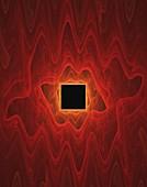 Square and ripples fractal illustration.