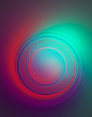 Concentric circles abstract illustration.