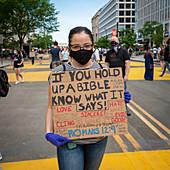 Black Lives Matter protest, Washington DC, USA