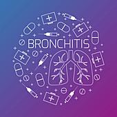 Bronchitis, conceptual illustration