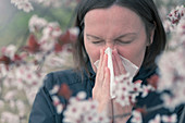 Tree pollen allergy, conceptual image