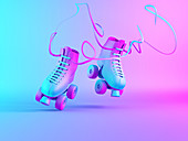 Roller skates, illustration