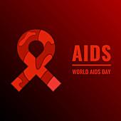 AIDS awareness, conceptual illustration