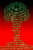 Data explosion, conceptual illustration