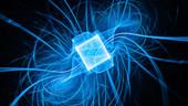 Quantum processor, conceptual illustration