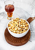 Fresh garlic, butter, popcorn
