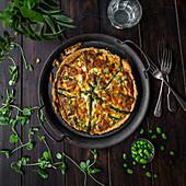 Asparagus Pea Broad Bean quiche