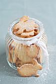 Easter cookies in a jar