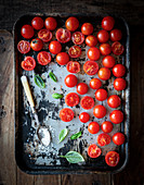 Tray of cherry tomatoes