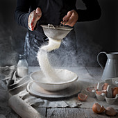 Sifting Flour pastry making