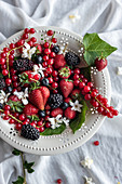 Assorted fresh berries in plate