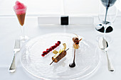 Dessert at the Aqua Ritz-Carlton, Wolfsburg, Germany