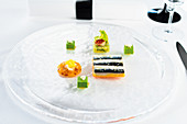A fish dish Aqua Ritz-Carlton, Wolfsburg, Germany