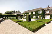 Main building and park grounds, Chateau Beaune Bouchard, Burgundy, France