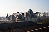 A view across the roofs of Chateau Haut Brion, Pessac-Leognan, Bordeaux, France