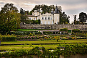 Palace with park grounds, Chateau Lafite-Rothschild, Pauillac, Medoc, Bordeaux, France