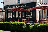 Café at Chateau Lynch Bages, Pauillac, Bordeaux, France