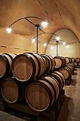 Barrique cellar, Domaine Leflaive, Burgundy, France