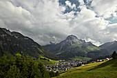 Bergpanorama, Lech, Arlberg, Österreich
