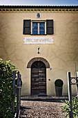 Entrance, Le Pupille vineyard, Maremma, Tuscany, Italy